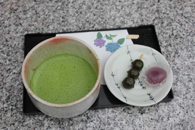 和菓子とお抹茶