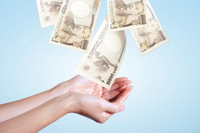 1万円札が降ってきた